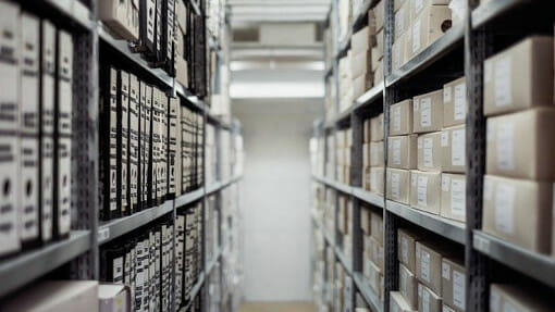 business archives in storage
