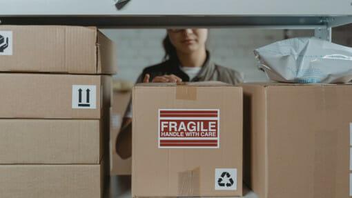 preparing fragile items for self storage
