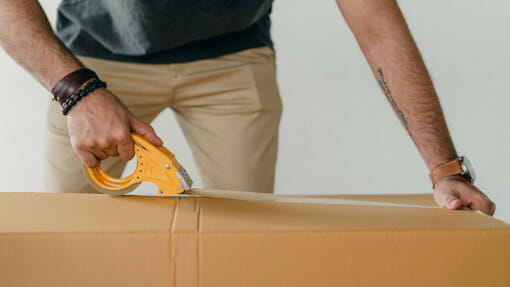 sealing packing boxes for self storage