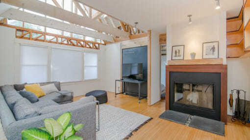 uncluttered living space