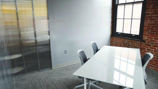 uncluttered office space