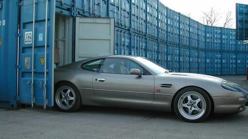 Aston Martin in a storage unit