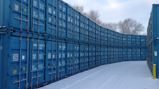 Storing units in the snow